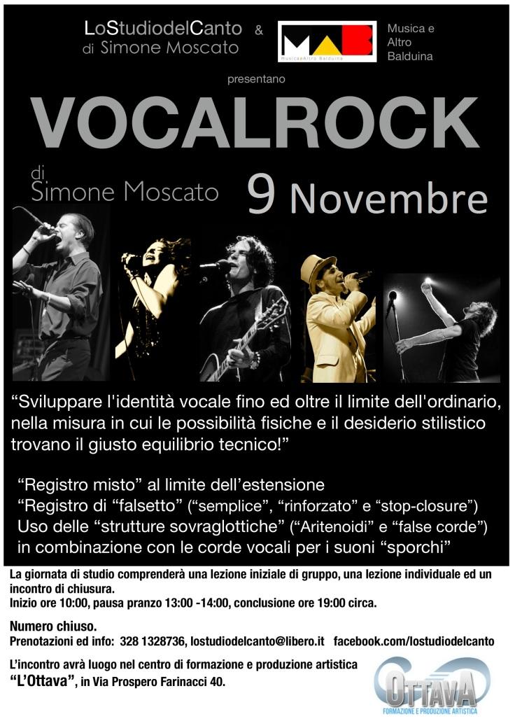 Si riparte!!! Vocalrock 9/11/2013!!